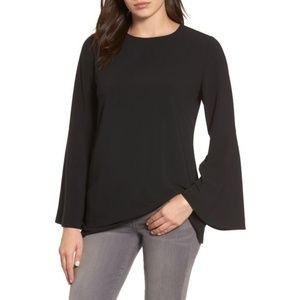 Halogen Bow Back Flare Sleeve Tunic